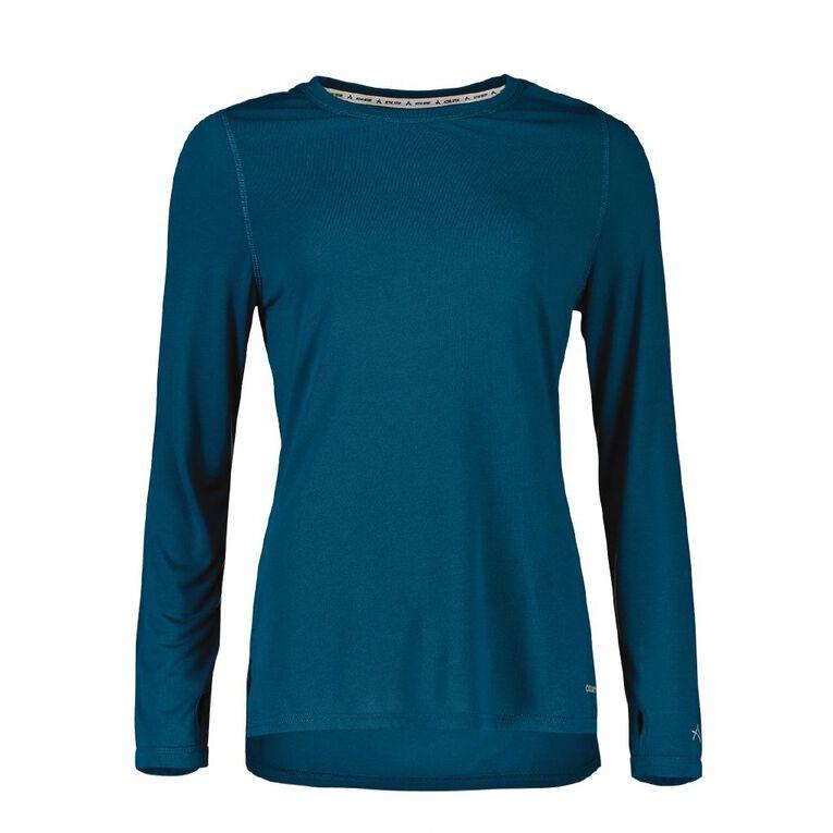 Active Intent Women's Long Sleeve Slice Back Tee, Blue Dark, hi-res image number null
