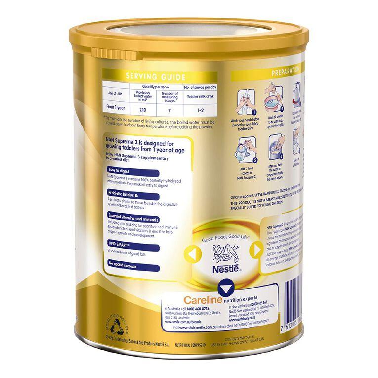 Nestle Supreme Toddler Milk Drink Stage 3 800g Net, , hi-res
