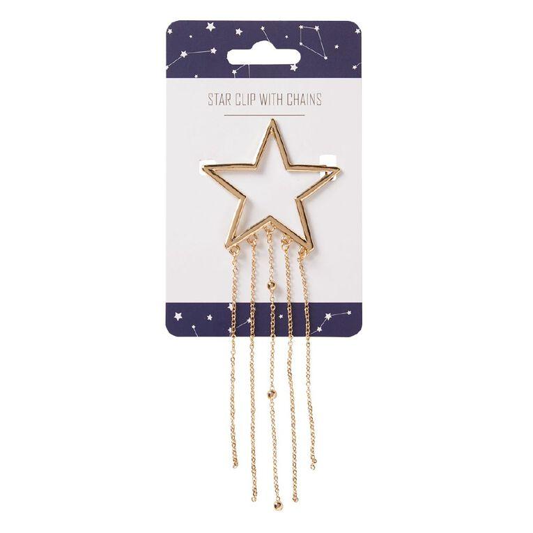Interstella Star Clip With Chains, , hi-res