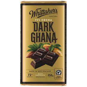 Whittaker's 72% Ghana Block 250g