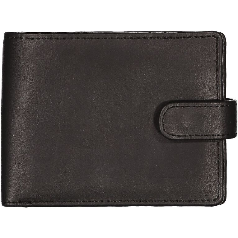 H&H Fold Tab Wallet, Black, hi-res