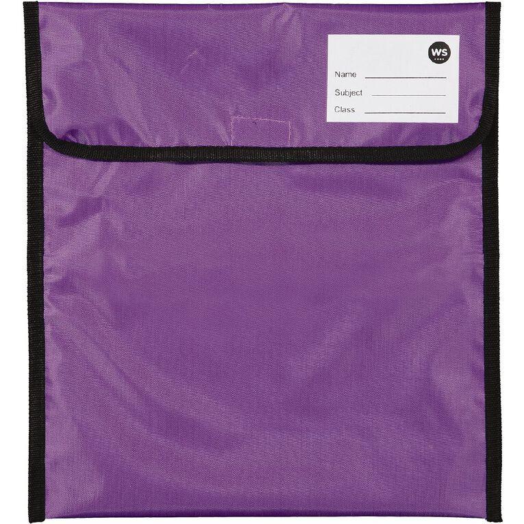 WS Book Bag Zipper Pocket 36cm x 33cm Purple, , hi-res