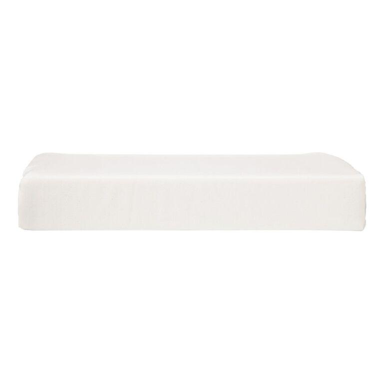 Living & Co Sheet Flat Microfibre White Double, White, hi-res