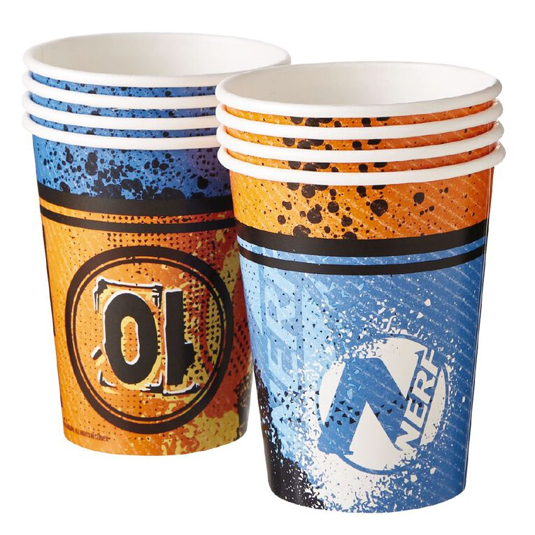 NERF Paper Cups 250ml 8 Pack, , hi-res