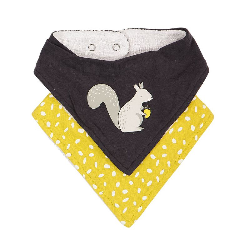 Young Original Baby 2 Pack Dribble Bibs, Grey Dark, hi-res image number null