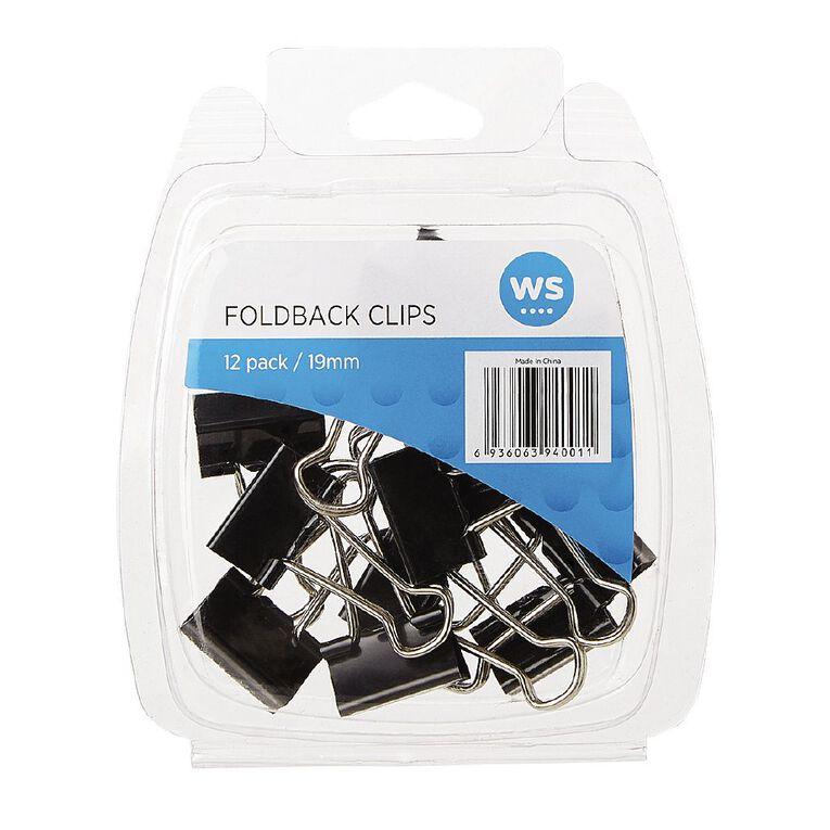 WS Foldback Clips 19mm 12 Pack, , hi-res