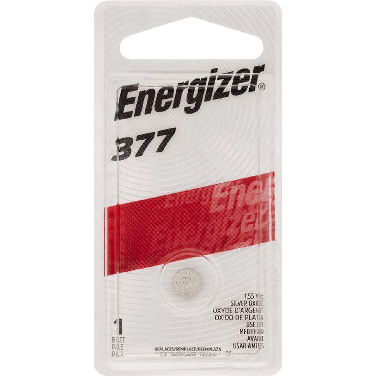 Energizer Silver Oxide Watch Battery 377BP1 1.5 Volt, , hi-res