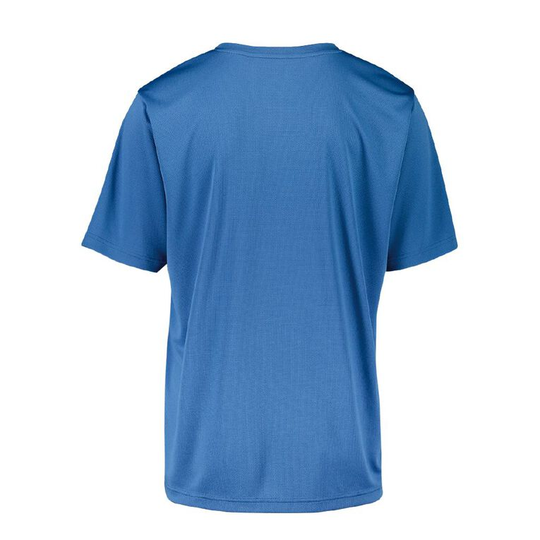Active Intent Men's Printed Tee, Blue Mid, hi-res image number null