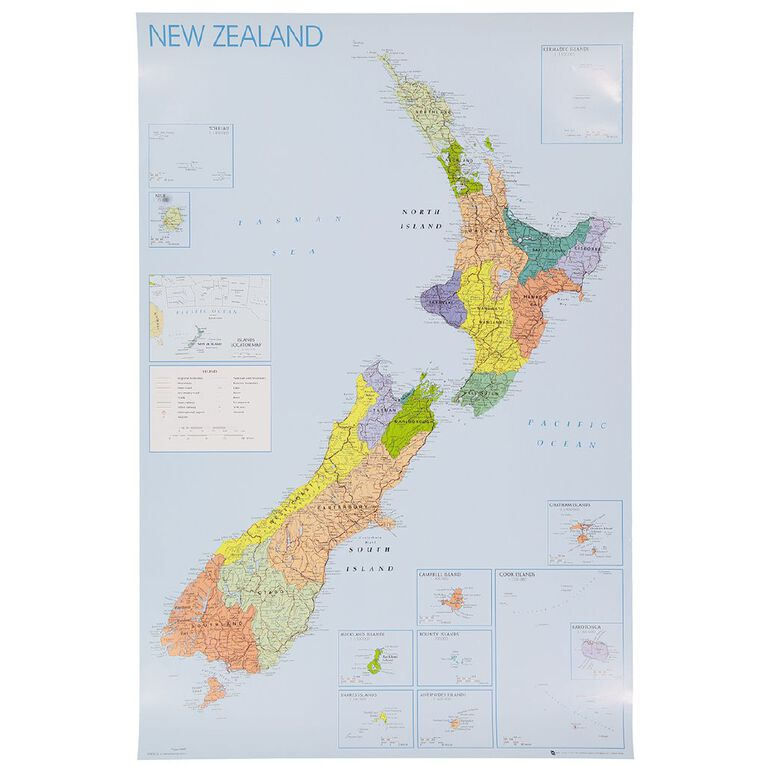 Poster New Zealand Regions, , hi-res image number null
