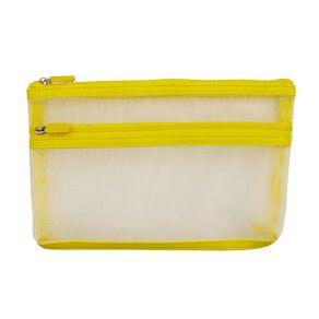 Uniti Geo Pencil Case Two Pocket Yellow