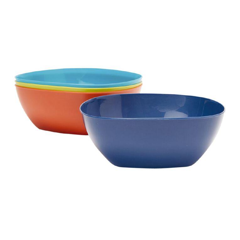 Living & Co Essentials Picnic Bowl Multi-Coloured 4 Pack, , hi-res