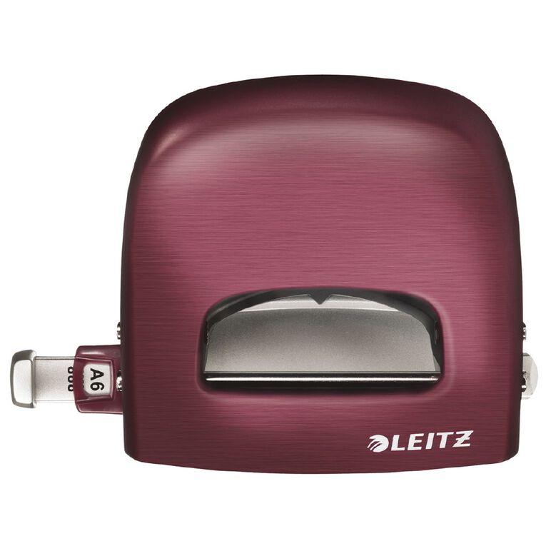 Leitz Metal 2 Hole Punch 30 Sheet Titan Red, , hi-res