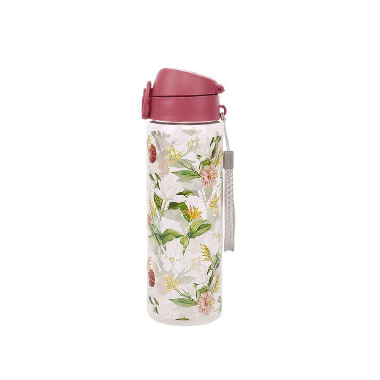 Living & Co Tritan Chug Drink Bottle Floral 750ml, , hi-res