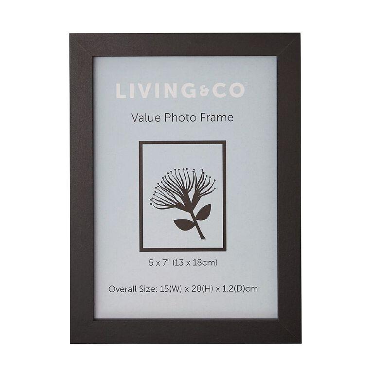 Living & Co Value Photo Frame Black 5in x 7in, Black, hi-res