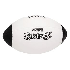 Avaro Rugby Ball Trainer Black/White Size 5