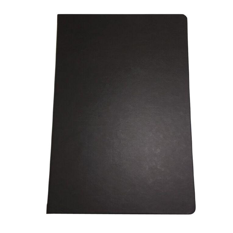 WS Hardcover PU Notebook Black A5, , hi-res