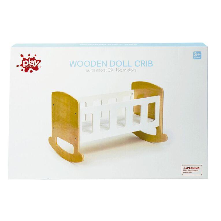 Play Studio Wooden Doll Crib, , hi-res