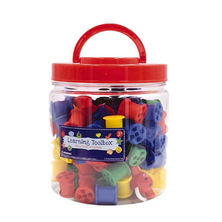Learning Tool Box Cotton Reels In Tub 122pieces, , hi-res