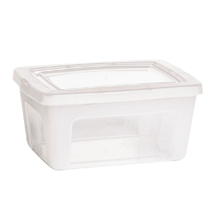 Living & Co Storage Container Clear 14L, , hi-res image number null