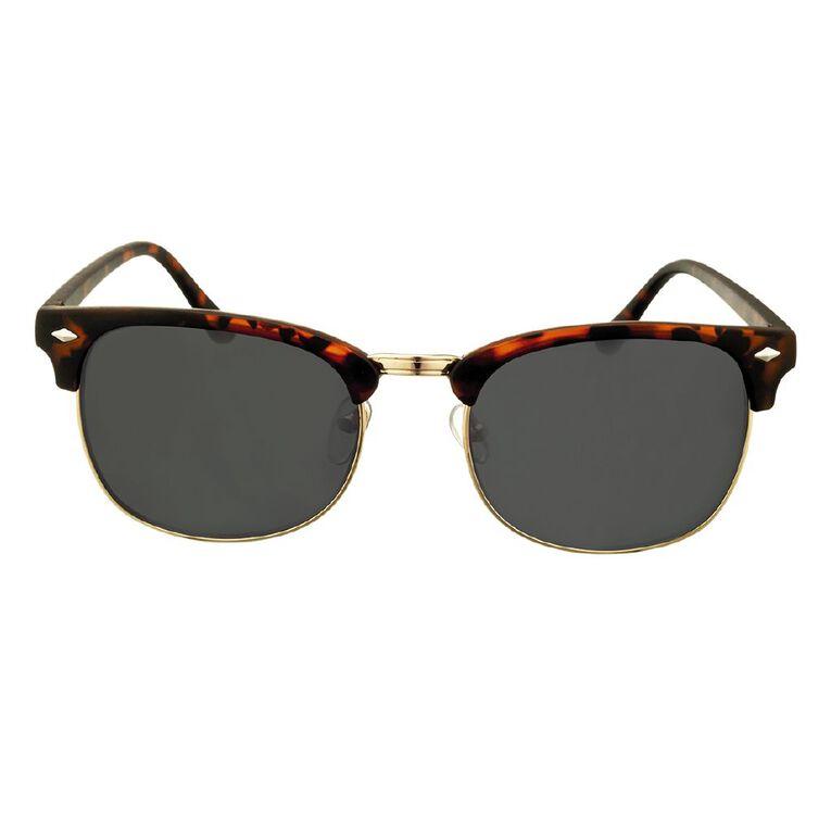 H&H Essentials Browbar Sunglasses, Black, hi-res