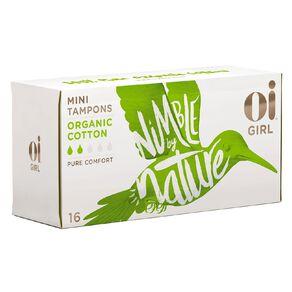 Oi Girl Organic Cotton Tampons Mini 16 Pack