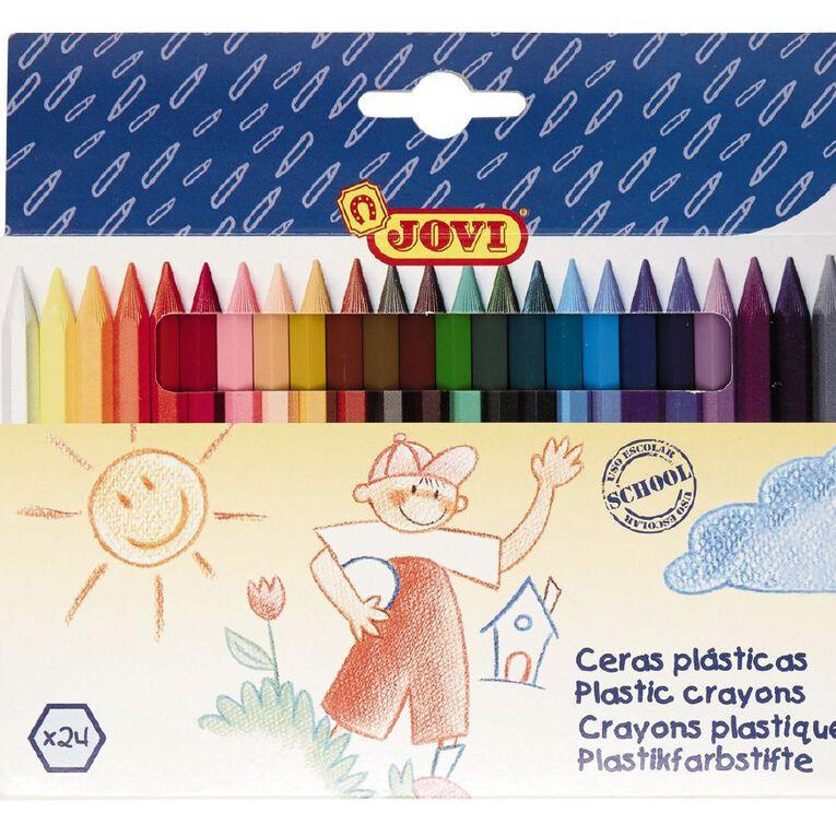 Jovi Plastic Crayons 24 Pack, , hi-res