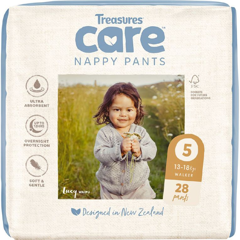 Treasures Care Nappy Pants 5 Walker Bulk 28pk, , hi-res