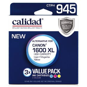 Calidad Canon PGI-1600XL Cyn Mag Yel 3 Pack