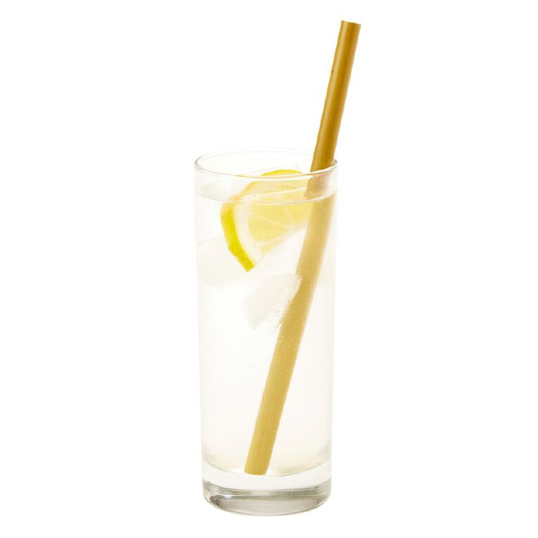 Party Inc Bamboo Straws with Cleaning Brush 20cm 10 Pack, , hi-res