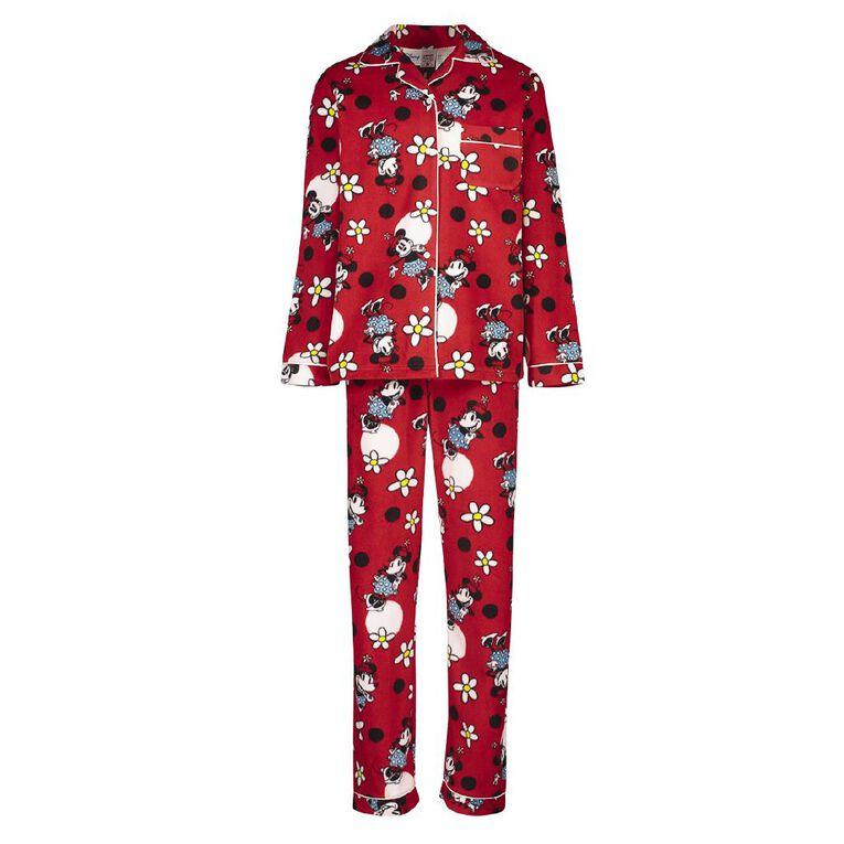Mickey Mouse Girls' Fleece Pyjama, Red Dark, hi-res