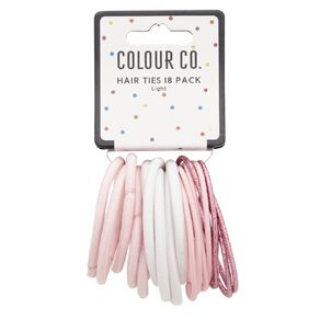 Colour Co. Hair Ties Light 18 Pack