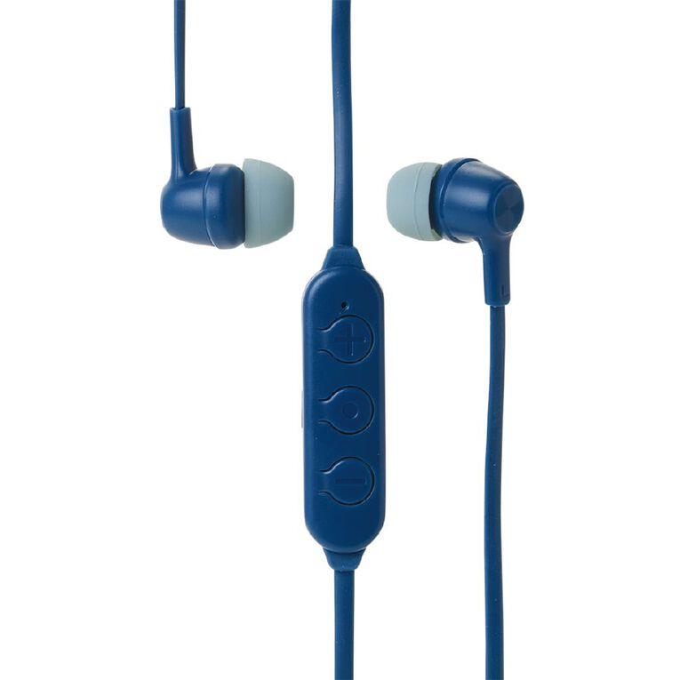 Tech.Inc Bluetooth Earbuds With Mic And Volume Control Blue, , hi-res