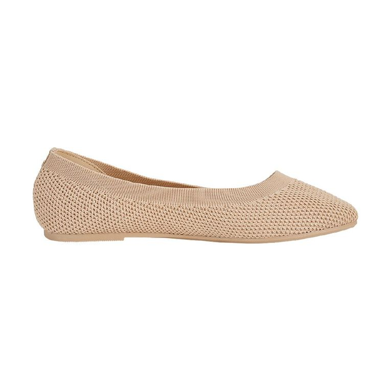 H&H Women's Knitted Ballet Shoes, Pink, hi-res