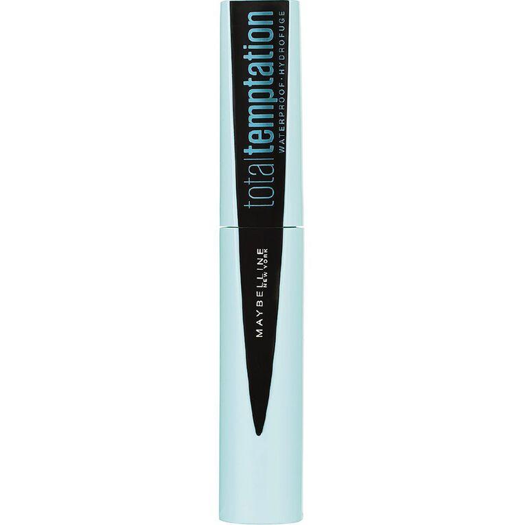 Maybelline Total Temptation Mascara Waterproof Black, , hi-res