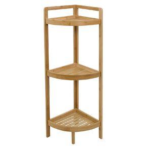 Living & Co Bamboo 3 Tier Corner Shelf