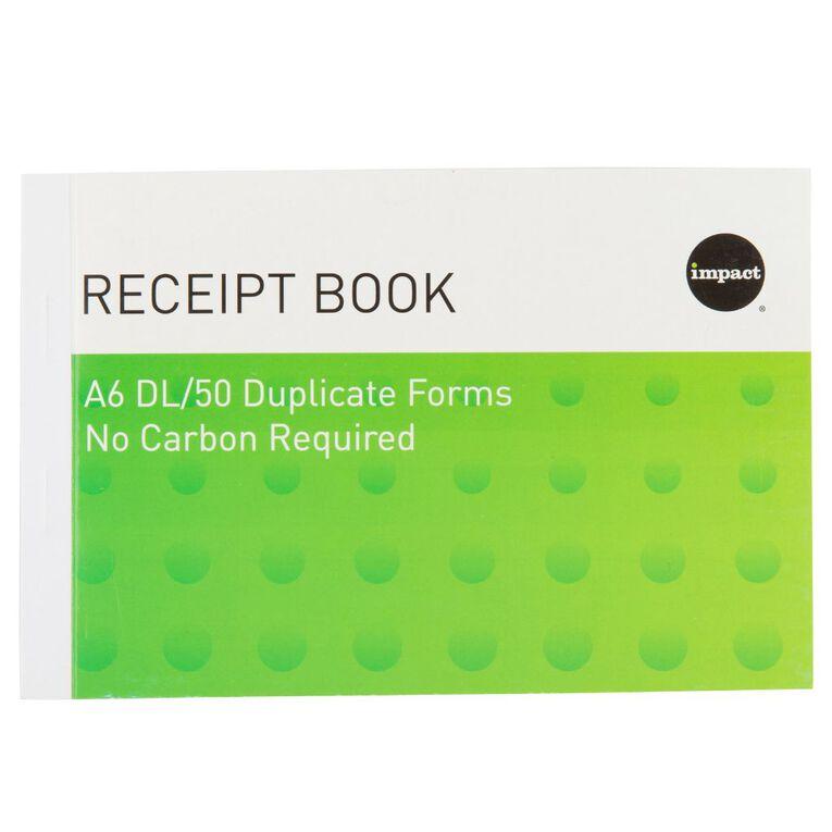 WS Receipt Book A6Dl Ncr 50 Receipts Green, , hi-res