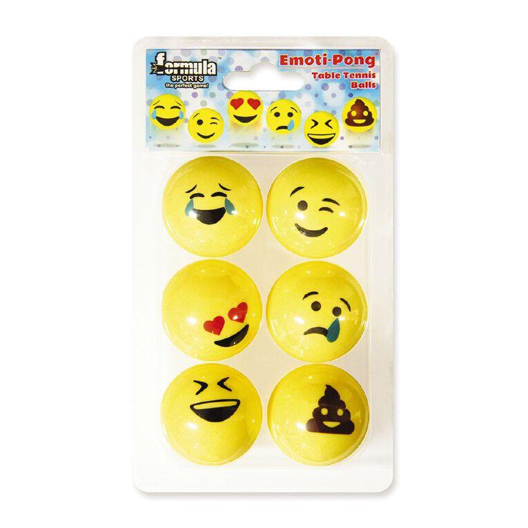 Formula Sports EmotiPong Table Tennis Balls 6 Pack, , hi-res