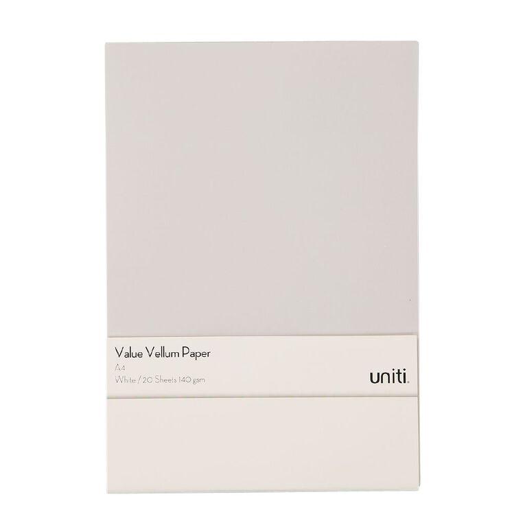 Uniti Value Paper Pack A4 20 Sheet Vellum A4, , hi-res
