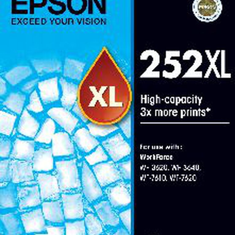 Epson Ink 252XL Cyan (1100 Pages), , hi-res