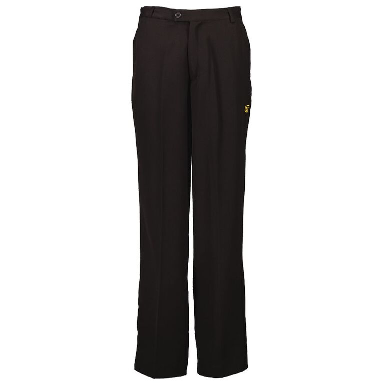 Schooltex Bream Bay College Boys Trousers with Embroidery, Black, hi-res