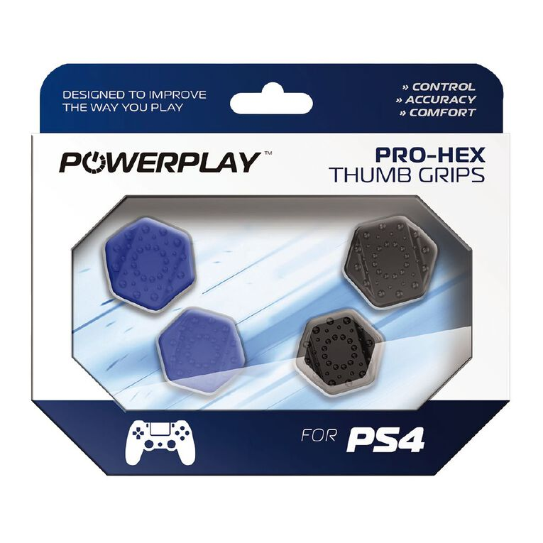 PowerPlay PS4 Pro-Hex Thumb Grips (Blue), , hi-res