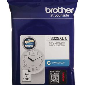 Brother Ink LC3329XLC Cyan (1500 Pages)