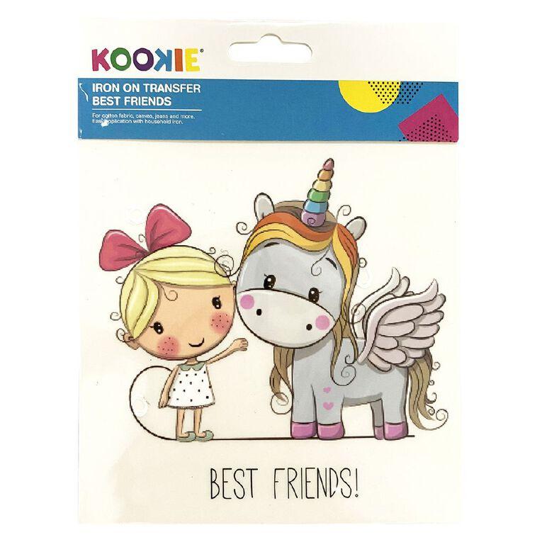 Kookie Iron on Transfer Best Friends, , hi-res