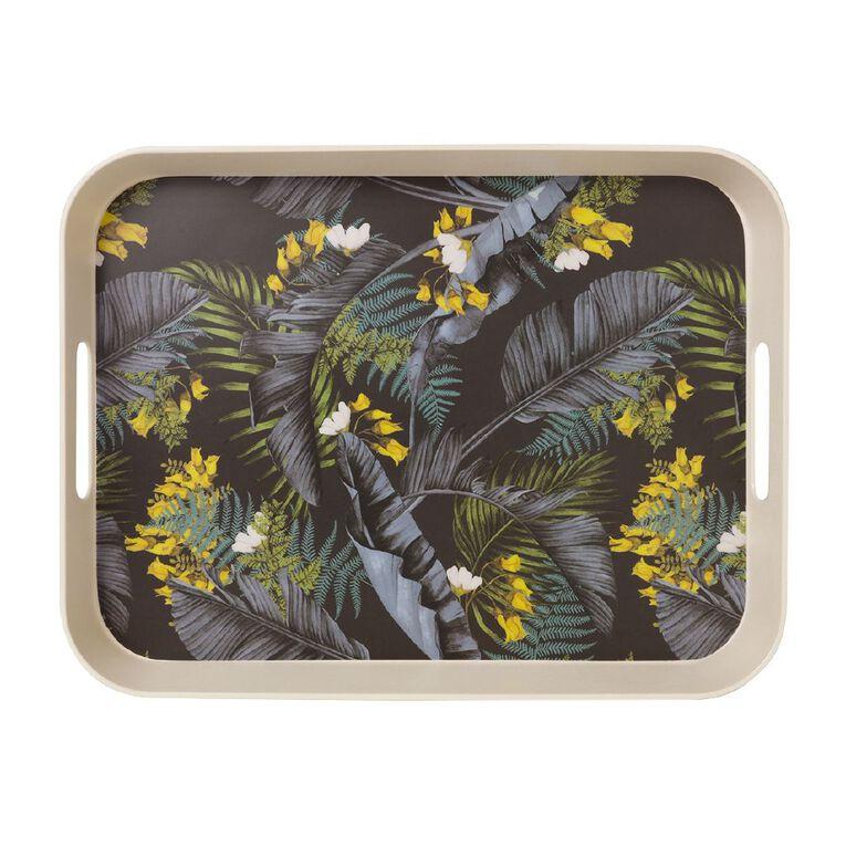 Living & Co Kiko Bamboo Rectangle Tray Printed, , hi-res