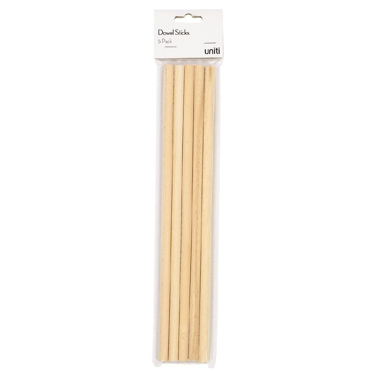 Uniti Dowel Wood Sticks 5 Pack, , hi-res