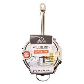 Arcosteel Chefs Choice Saucepan Stainless Steel 20cm