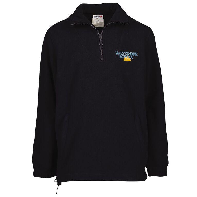 Schooltex Westshore Polar Fleece Top with Embroidery, Navy, hi-res