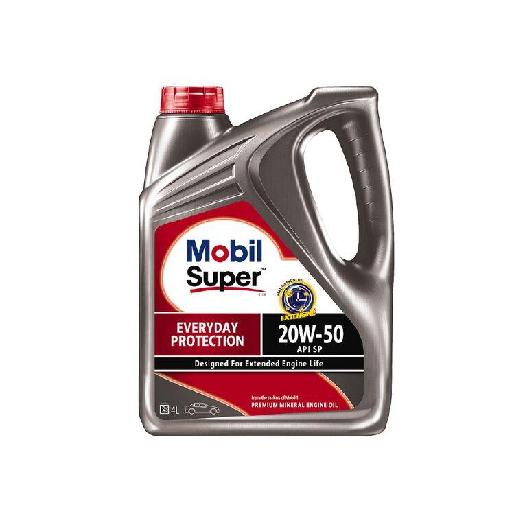 Mobil Super 1000 20w50 SP 4L Petrol Engine Oil, , hi-res