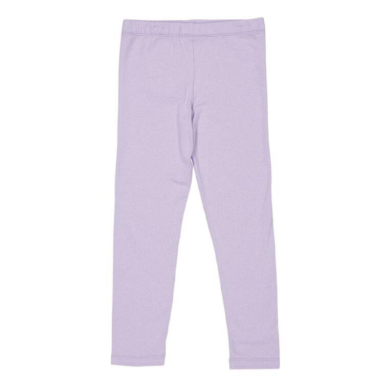 Young Original Girls' 7/8 Plain Leggings, Purple Light, hi-res