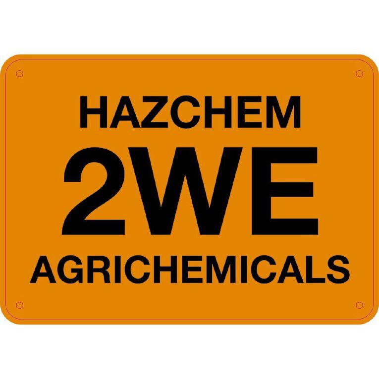 WS Hazchem 2We Agrichemicals Sign Small 240mm x 340mm, , hi-res